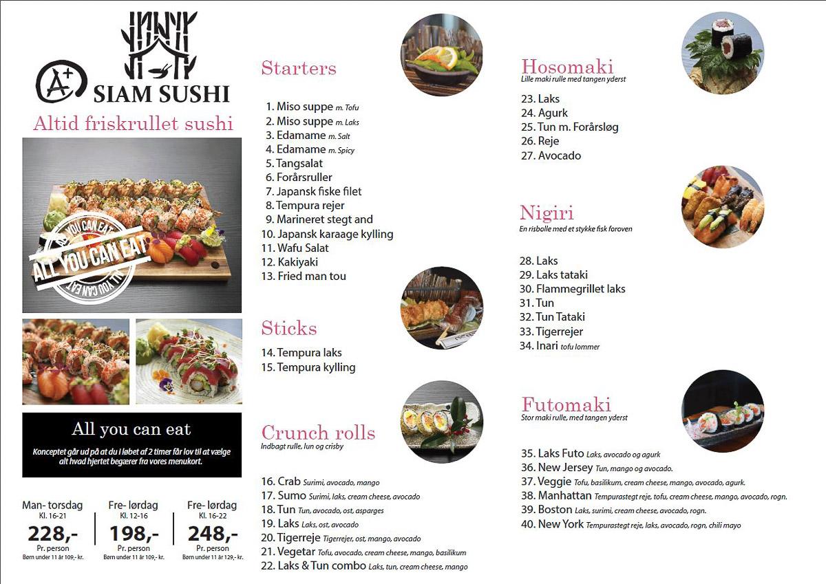 """A+ Siam Sushi i Skolegade følger trenden i Asien, og laver nyt """"sushi ad libitum"""""""