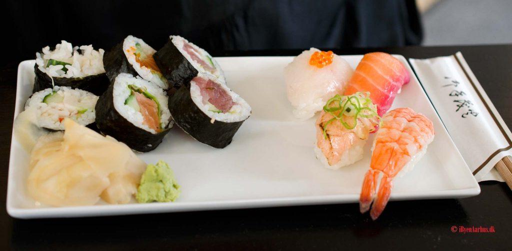 Anmeldelse af Sushi+ i M.P. Bruunsgade på Frederiksbjerg