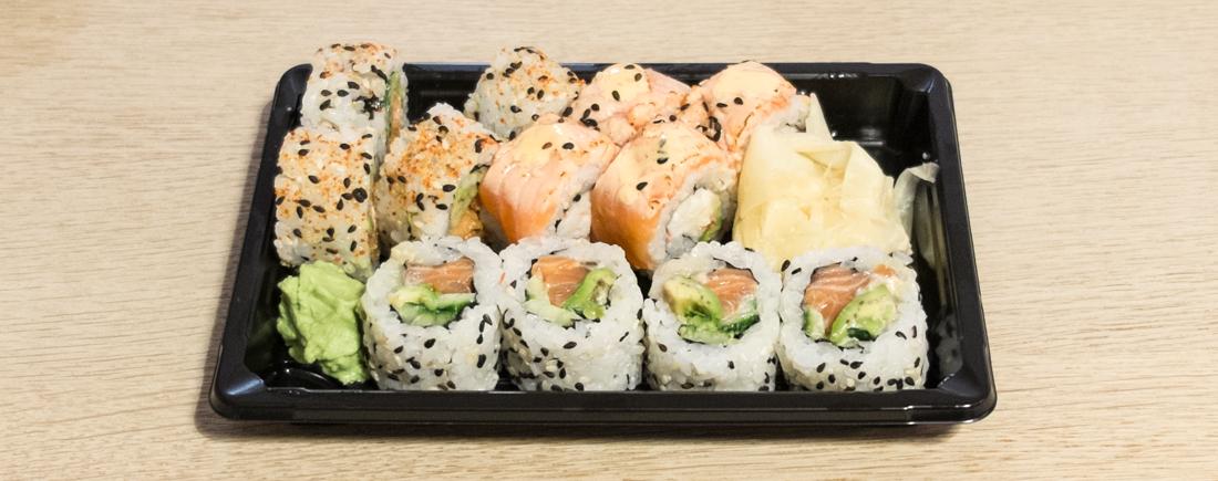 14 blandede maki fra Mitsu Mizu Sushi