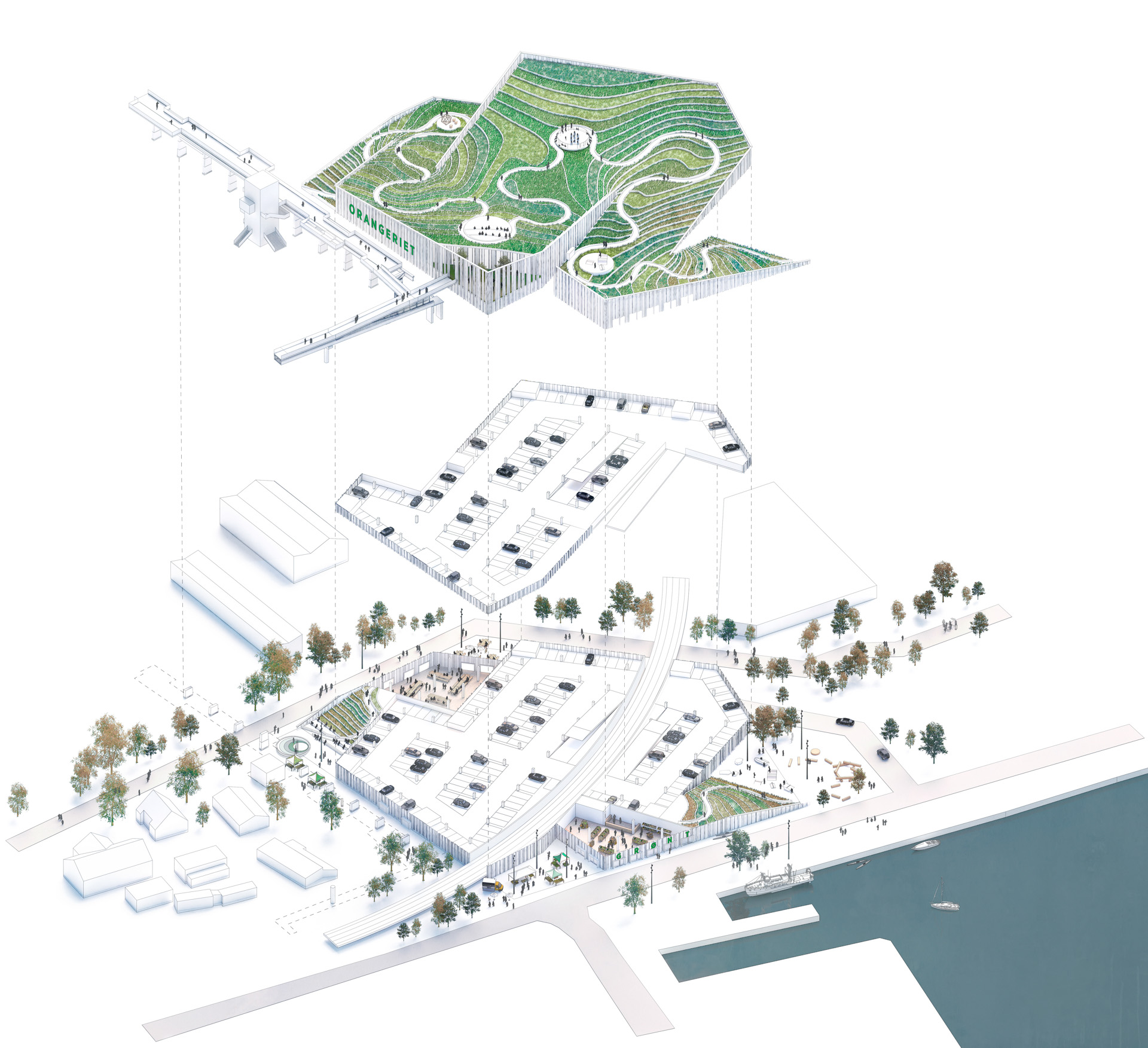 Her er de bedste ideer til et nyt P- hus i Sydhavnskvarteret