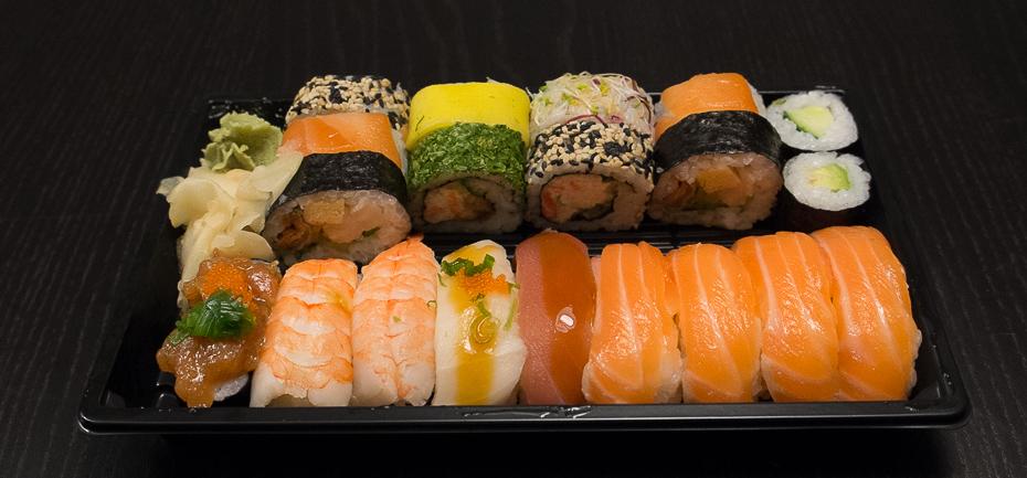 20 stykker fra Ginza Sushi i Aarhus