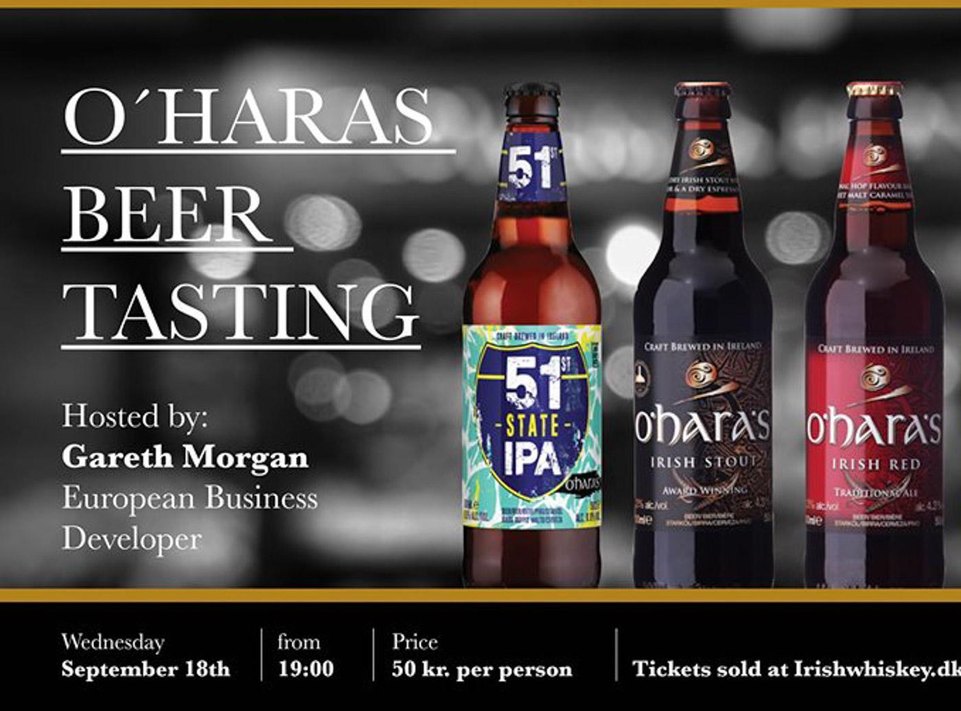 Tir Na Nóg: O´Haras Craft Beer Tasting til kun 50 kroner for 5 forskellige øl