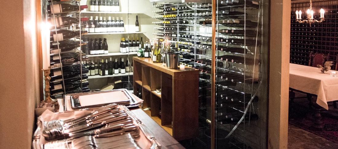 Afkølet vinrum på Norsminde Kro