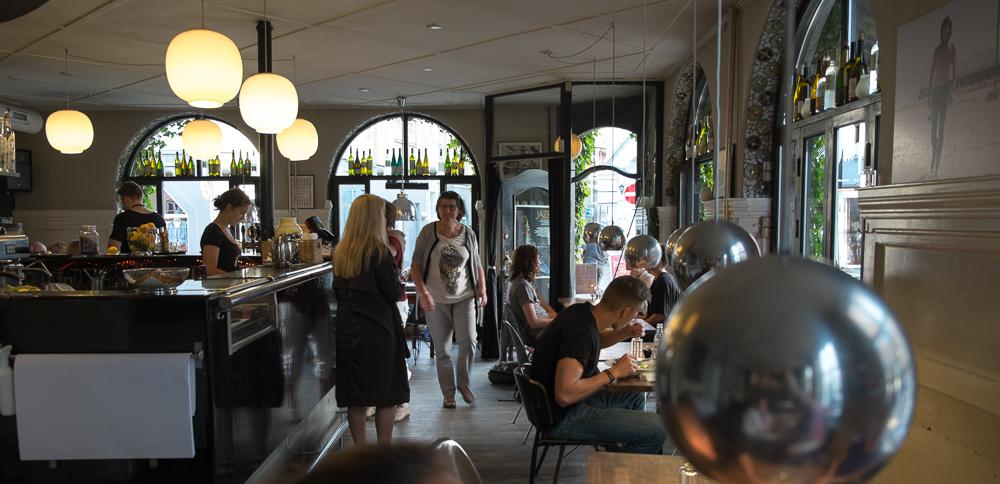 Aftenstemning på Café Drudenfuss_