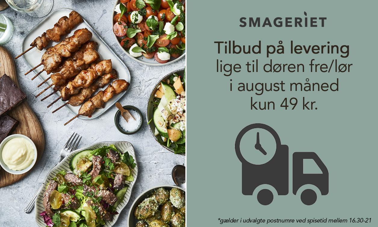Lækker sommermad lige til døren: Smageriet leverer for kun 49 kr.