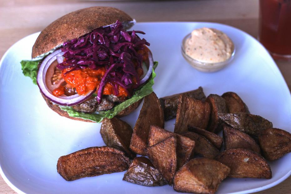 Bosnisk burger på Burger Joint