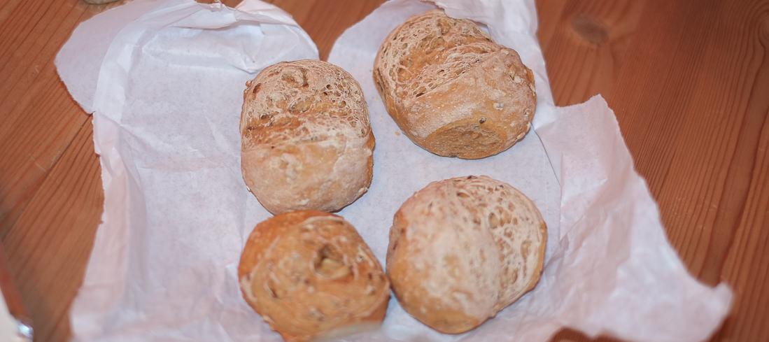 Brød fra La Trattoria i Aarhus