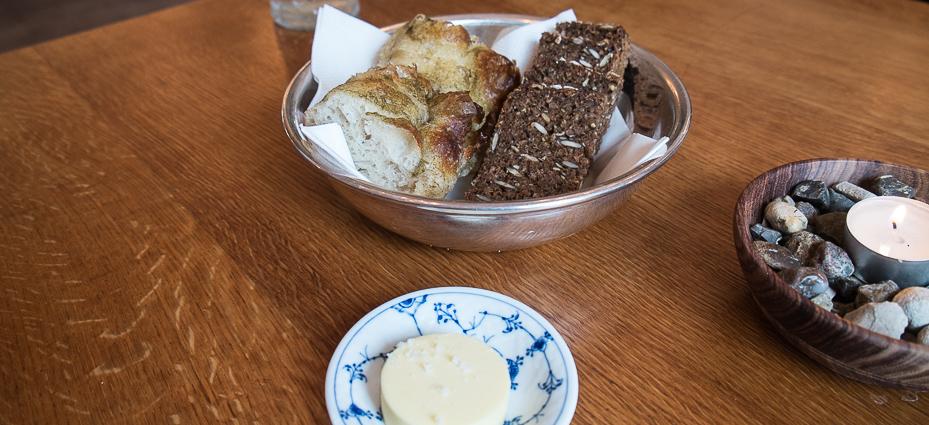 Brød og smør på Sjette Frederiks Kro