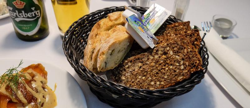 Brødkurven på City Café i Aarhus_