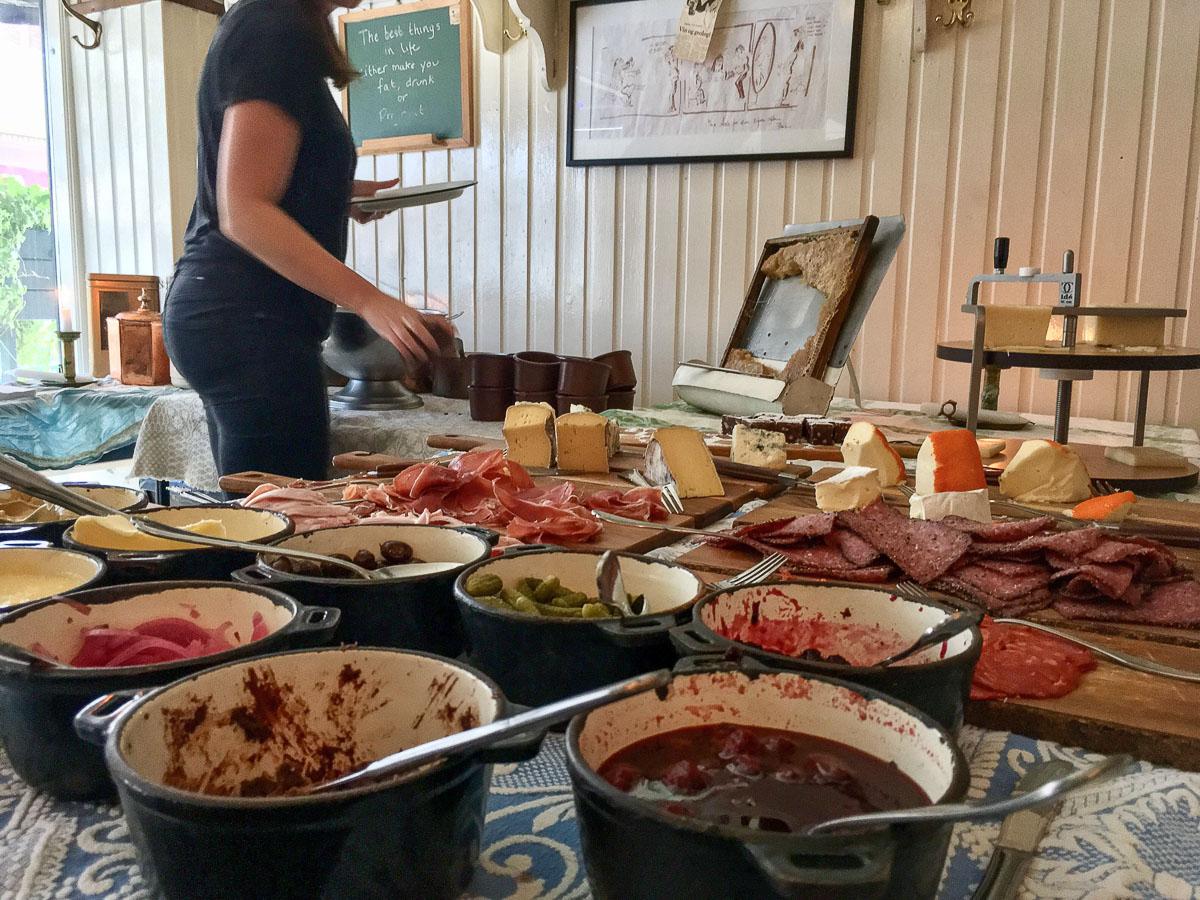 Buffetbordet hos Klassisk 65 i Jægergårdsgade