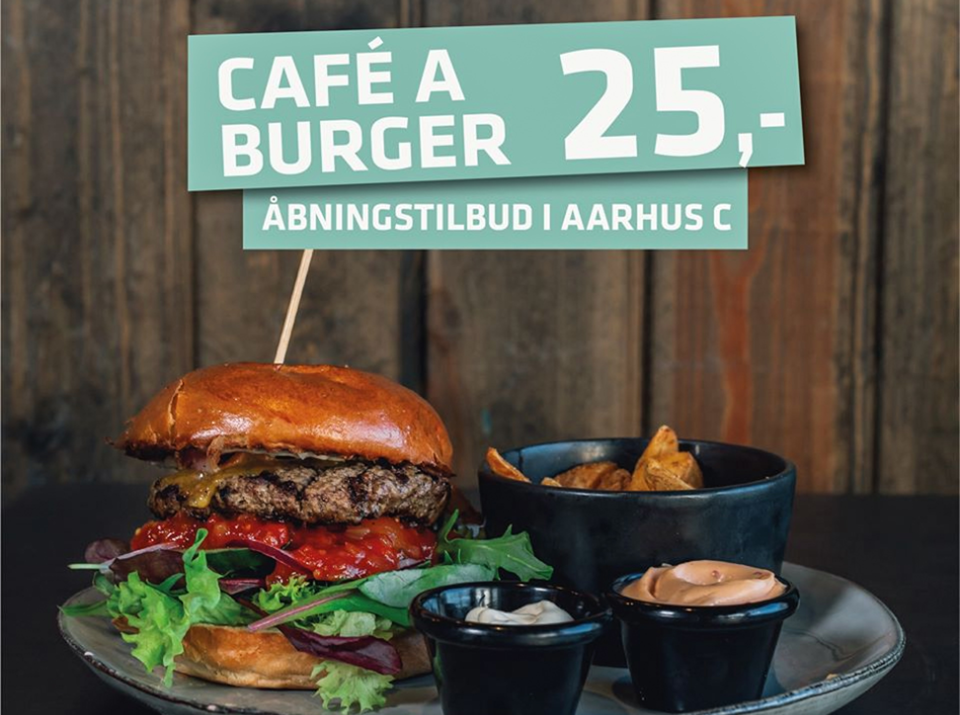 Café-kæde åbner i Aarhus: Burger og oksefilet til 25 kr.