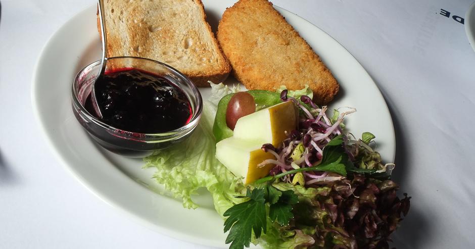 Camembert frit på Restaurant Kohalen i Aarhus