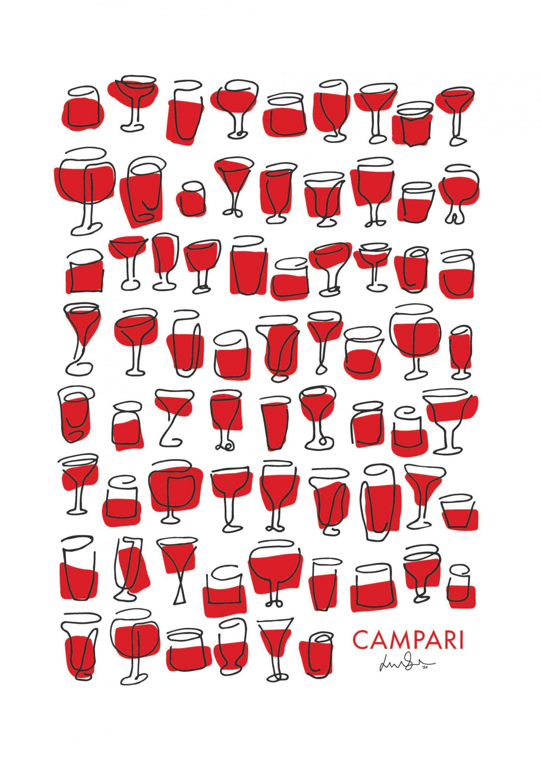Campari har udvalgt en talentfuld, dansk kunstner til at skabe deres ikoniske Campari-plakat. Nu kan værket endelig købes