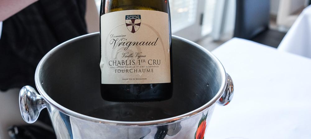 Chablis fra Domaine de Vrignaud. En 1. Cru og enkeltsmarks vin på Restaurant Fedet i Risskov