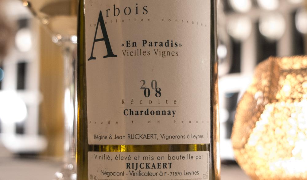 """Chardonnay 2008 """"A Paradis"""" Vielles Vignes fra Jean Rijkaert på Restaurant Varna"""
