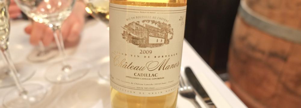 Chateau Manos 2009 fra appellationen Cadillac i Bordeaux