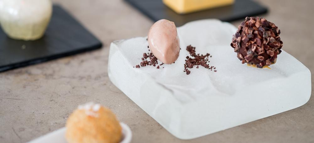 Chokoladedessert på Molskroen