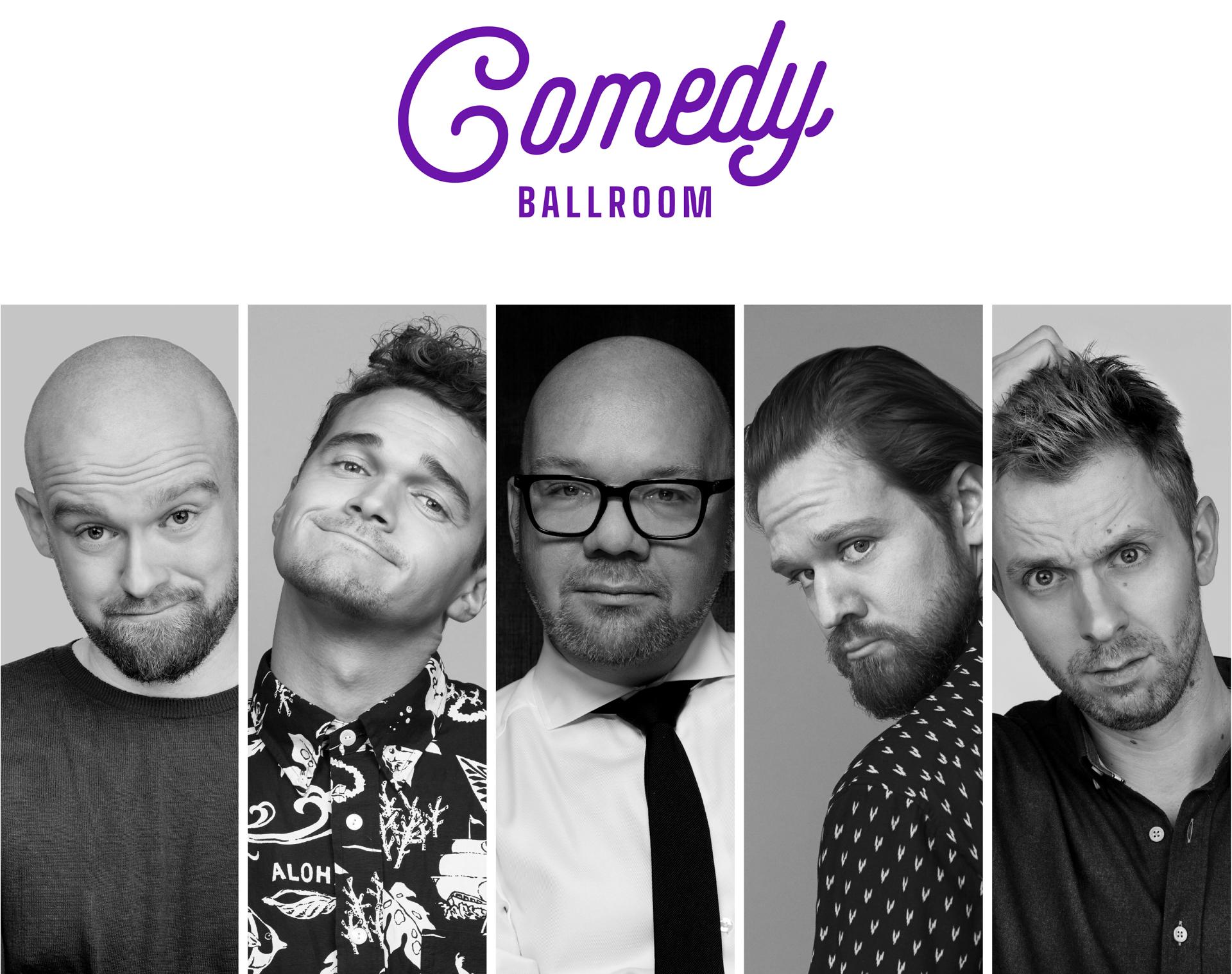 Årets comedy-brag: Lars Hjortshøj, Thomas Warberg, Ruben Søltoft, Mark Le Fêvre og Kasper Gross