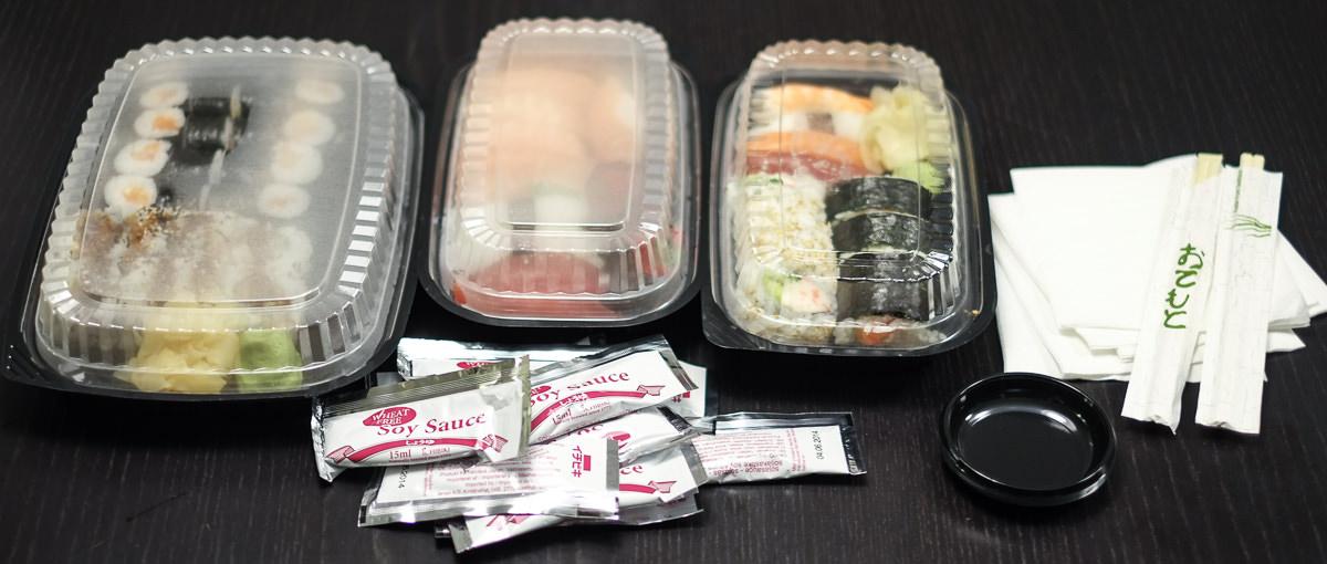 Dagens takeaway fra Sashimi Sushi på Trøjborg_