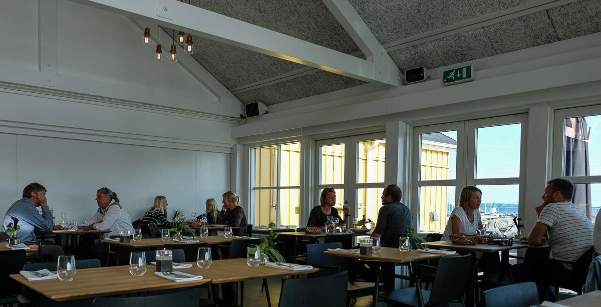 De første gæster hos Kaløvig Badehotel og Brasserie