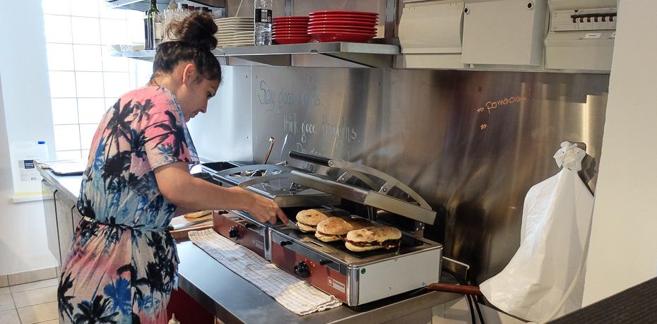 De lune sandwich hos Delizioso Is i Åbyhøj