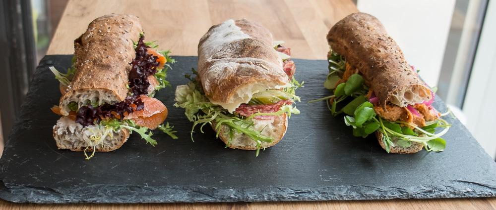De tre sandwich vi spiste på Foodfein i Aarhus