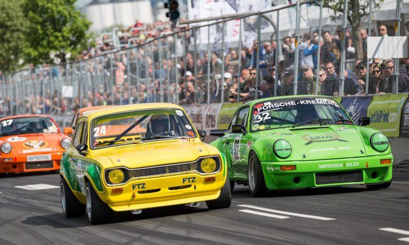 Den 28.-30. maj 2021 bliver der igen mulighed for at opleve både klassiske og topmoderne racerbiler rundt om Mindeparken (foto: Classic Race Aarhus).