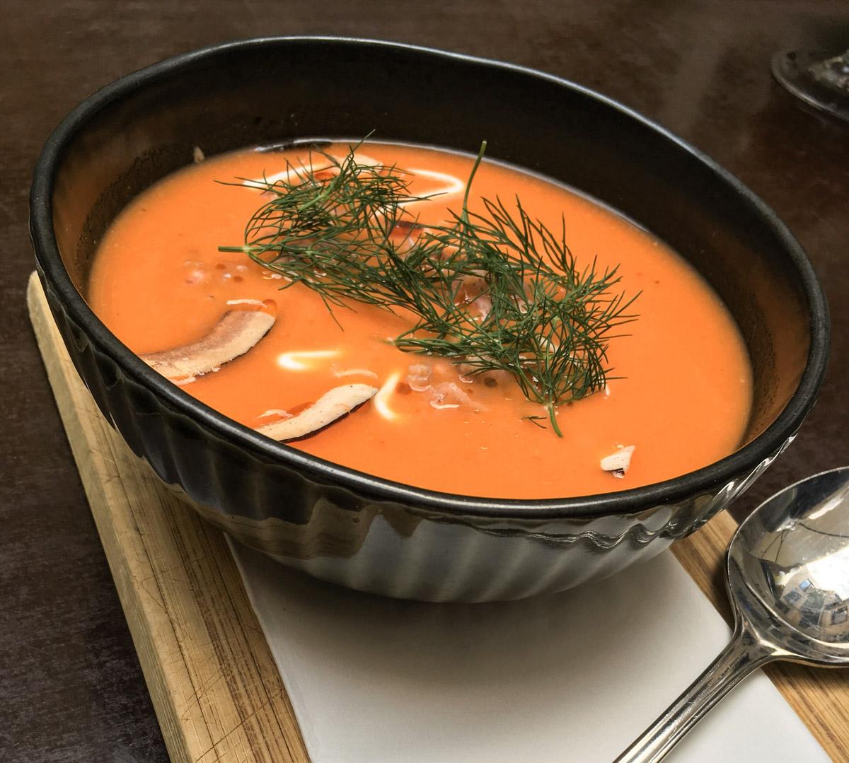 Den kolde tomatsuppe hos Juliette