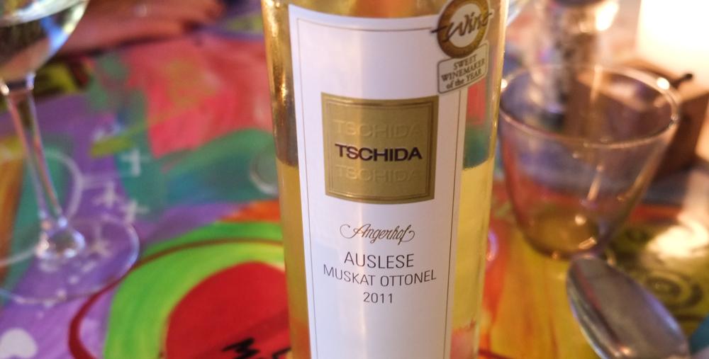 Dessertvinen var fra Hans Tschidas vingård i Østrig på Restaurant Mellemrum
