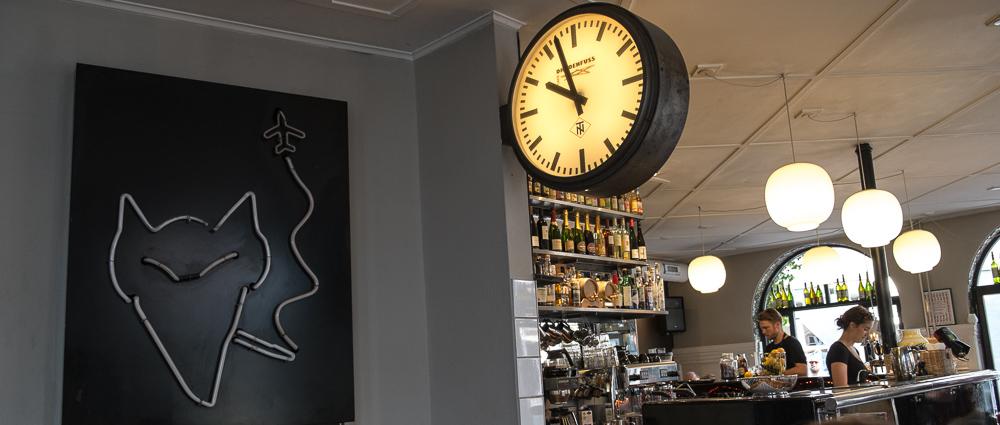 Det store ur på Café Drudenfuss_