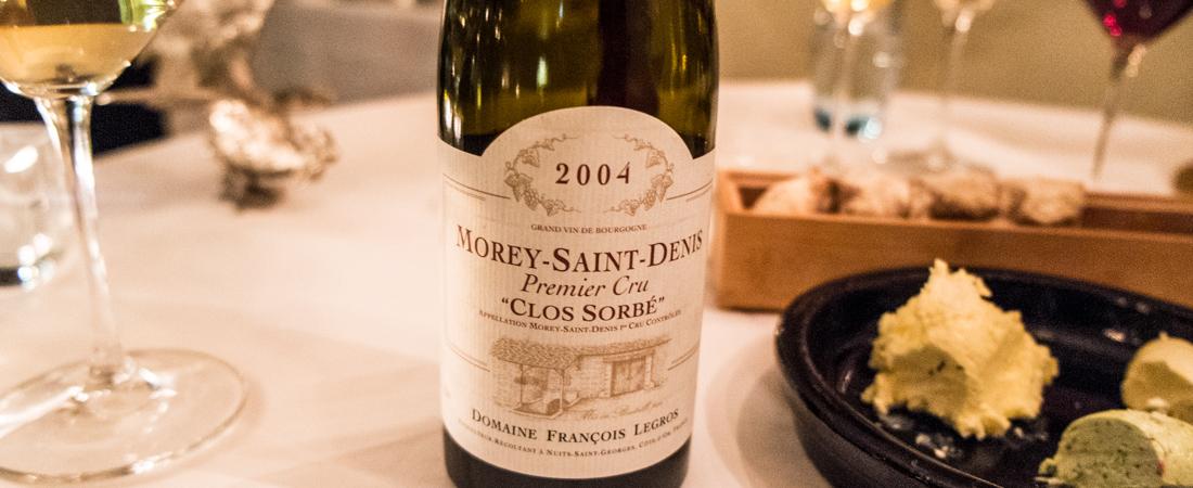 Domaine Legros, Morey Saint Denis, 2004, Bourgogne på Norsminde Kro