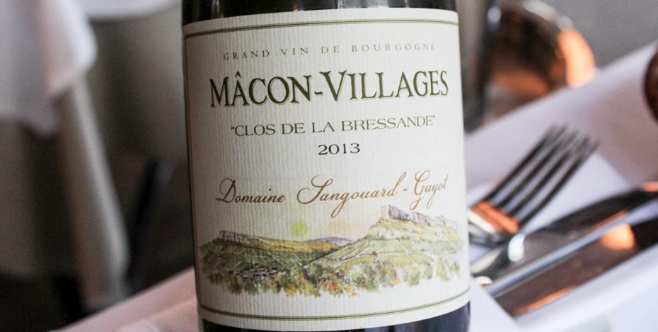Domaine Sangouard-Guyot, Macon-Villages Clos de la Bressande på Carlton