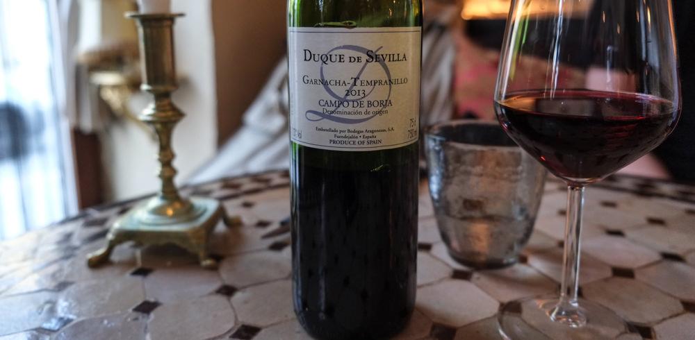 Duque de Sevilla fra Bodegas Aragonesas på Restaurant Ricks i Aarhus