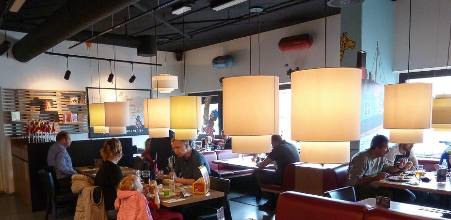 Eftermiddagsgæster på Rasmus Klump restauranten i Aarhus