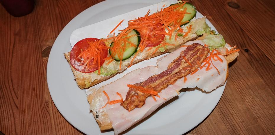 En åben sandwich