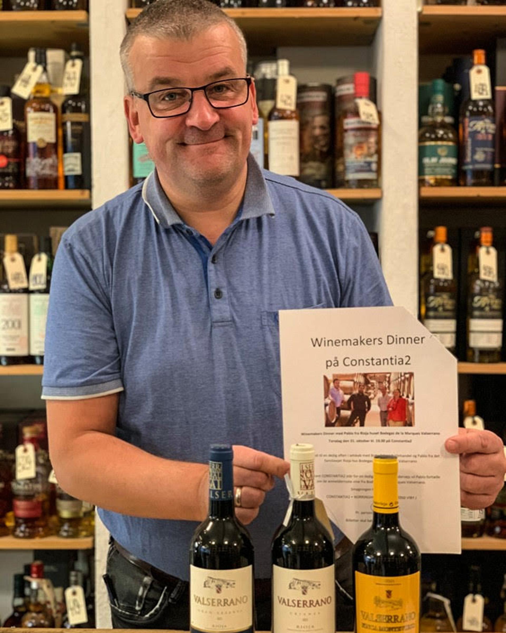 Constantia2: Vibyfolk værter for vinen fra Valserrano