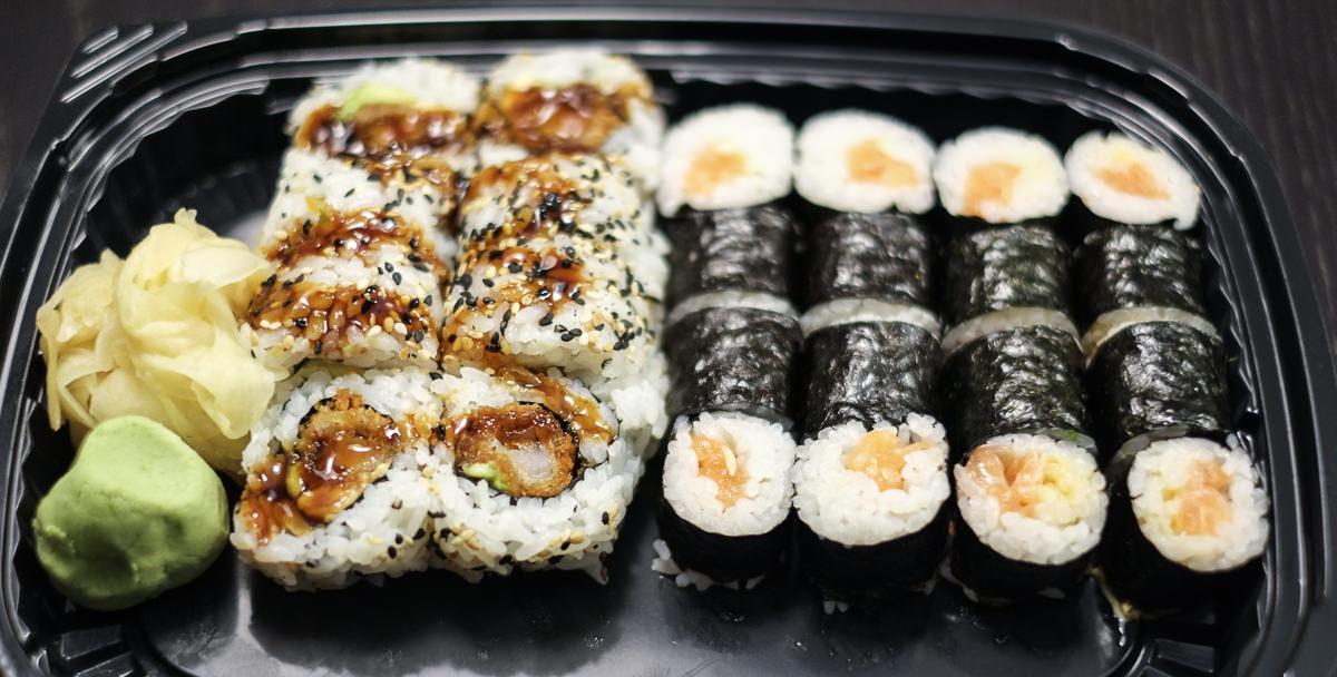 En omgang 42, 43 og 67 på samme bakke fra Sashimi Sushi på Trøjborg_