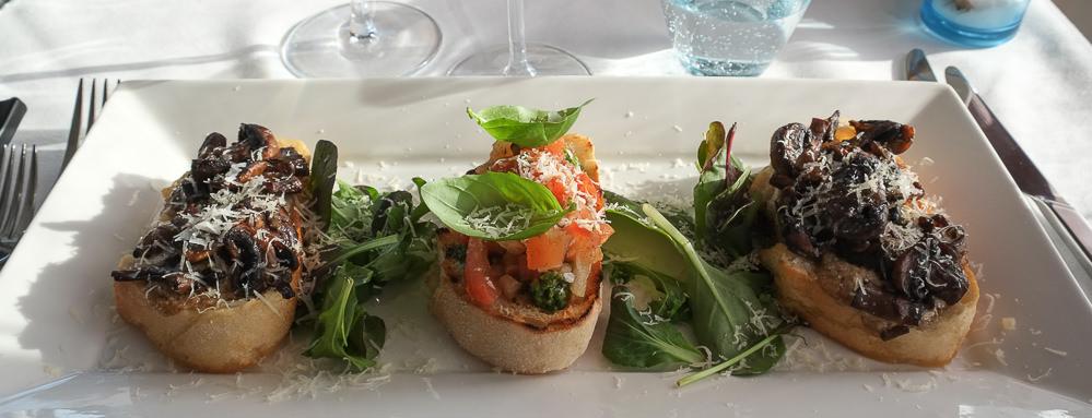 En omgang crostini på Restaurant Martino_