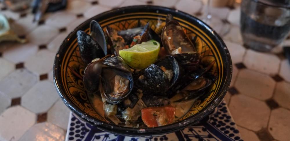 En omgang moules mariniéres som tapas på Restaurant Rick's i Aarhus