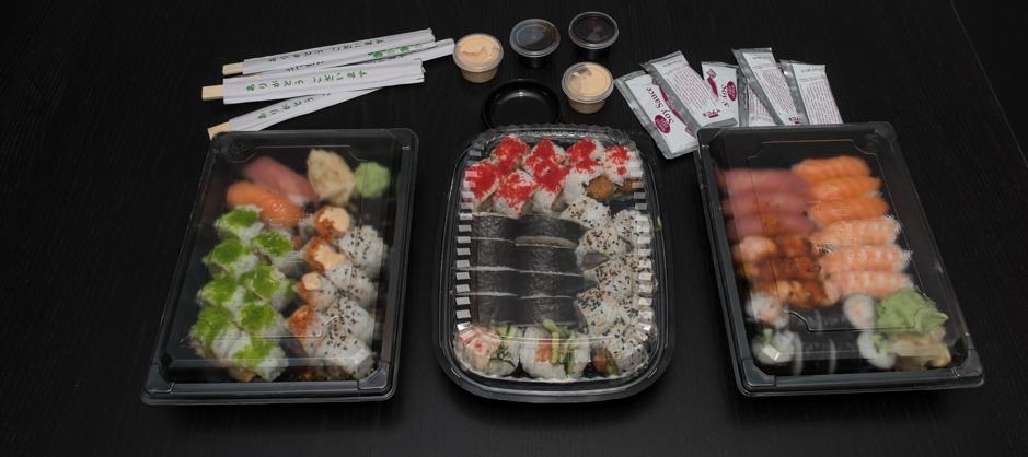 En omgang sushi fra Sino Sushi i Viby