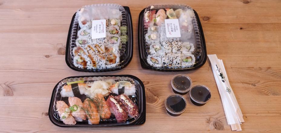 En omgang takeaway fra Teriyaki Sushi