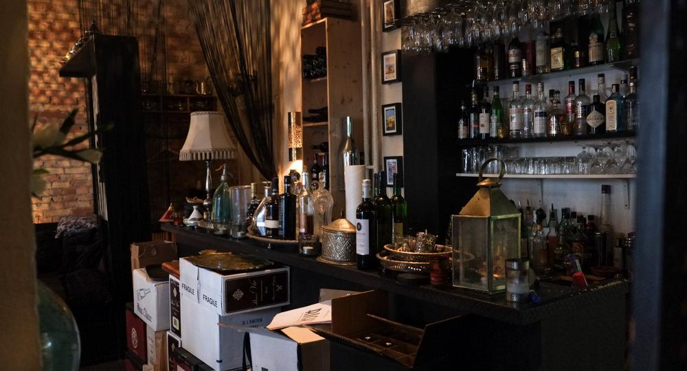 En pæn fyldt bar på Restaurant Ricks i Aarhus