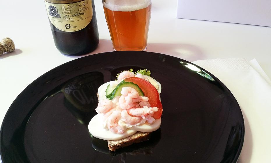 En rejemad fra Odensegades Smørrebrød