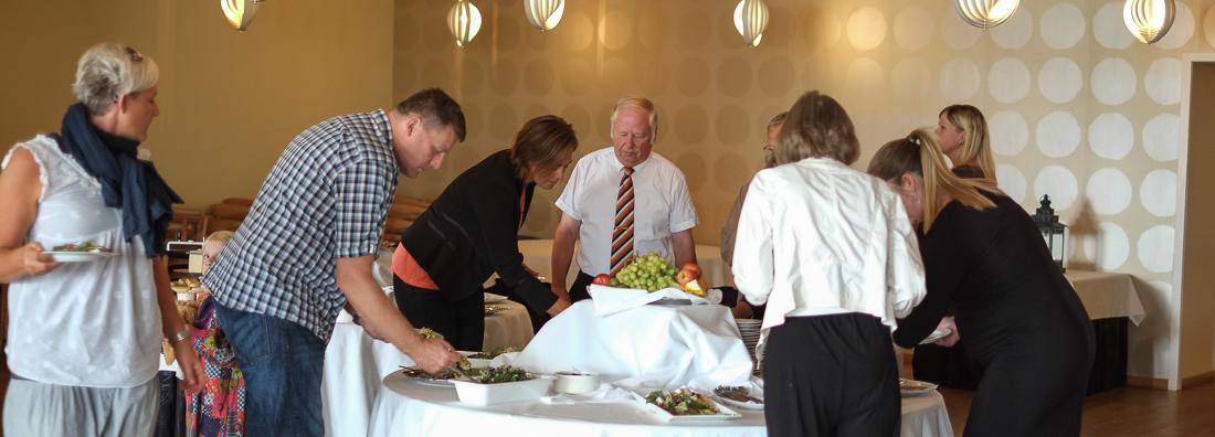 Et buffetbord til bruch på Restaurant Varna