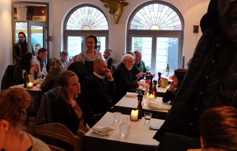Et selskab på Mefisto i Aarhus
