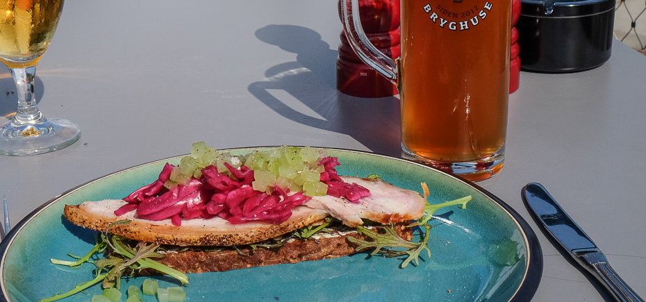 Et stykke med steg på Restaurant Remouladen i Vejle
