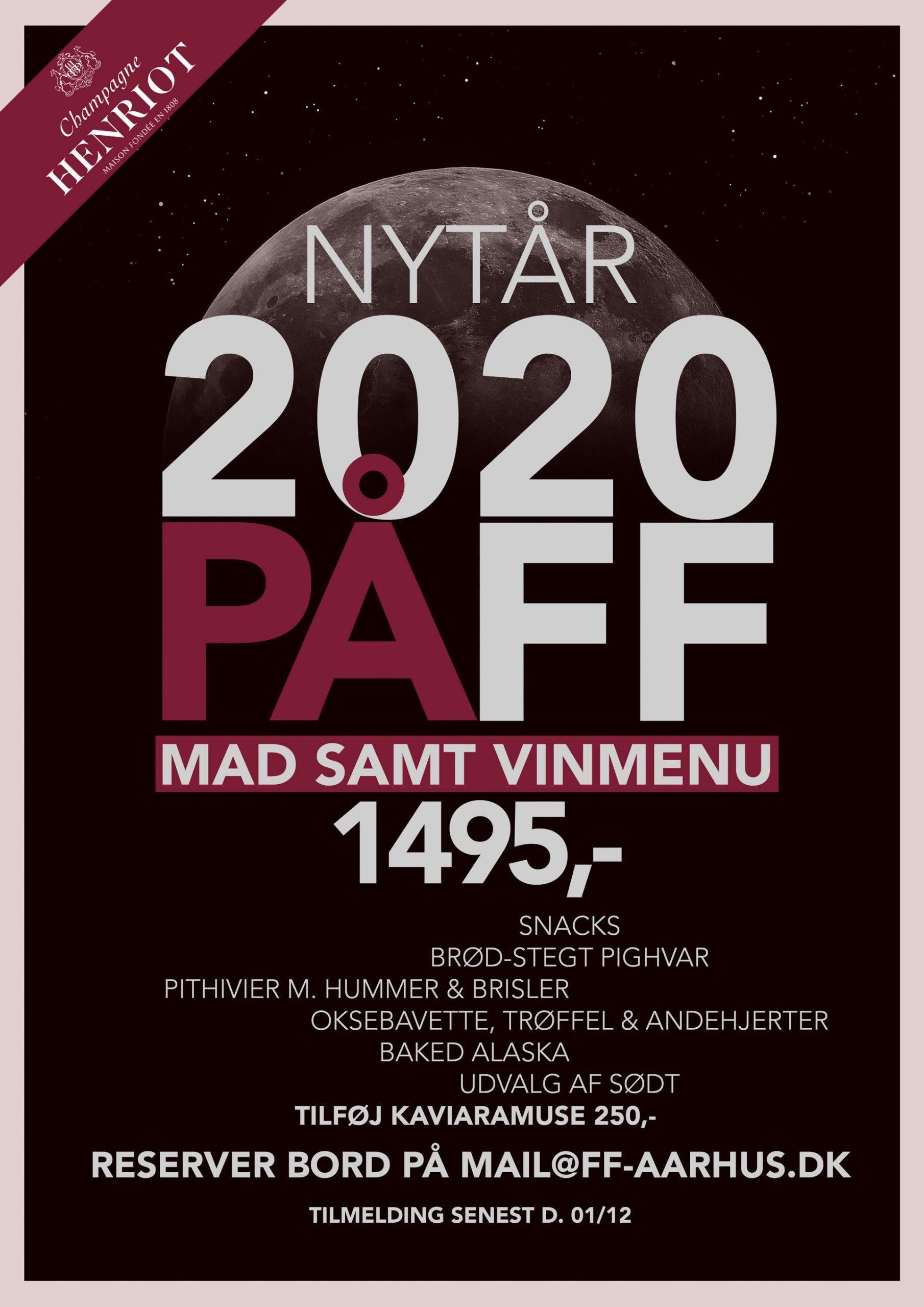 Restaurant FF ved åen: Holder for første gang åbent nytårsaften - og det bliver et brag af en fest!