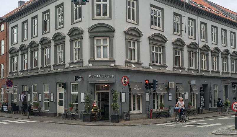 Facaden på Den Lille Kro i Aarhus_