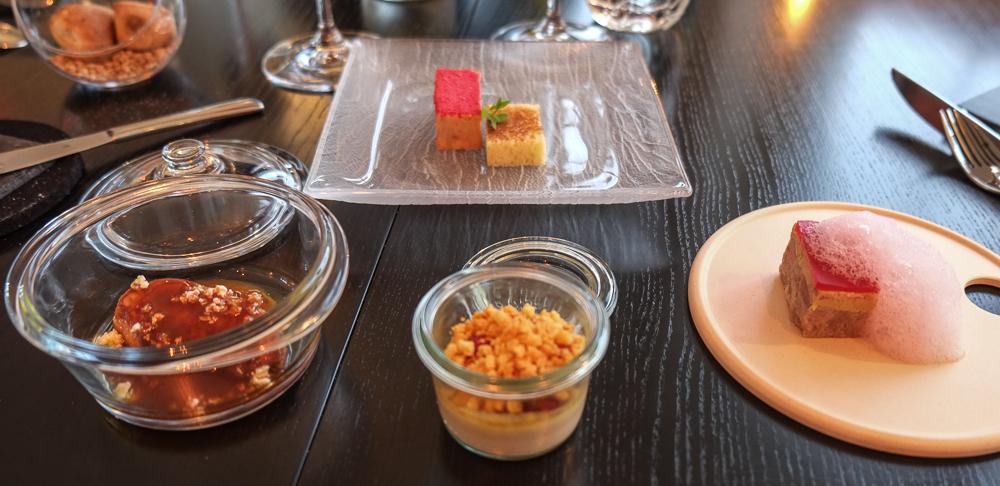 Fire forskellige variationer af foie gras på Molskroen