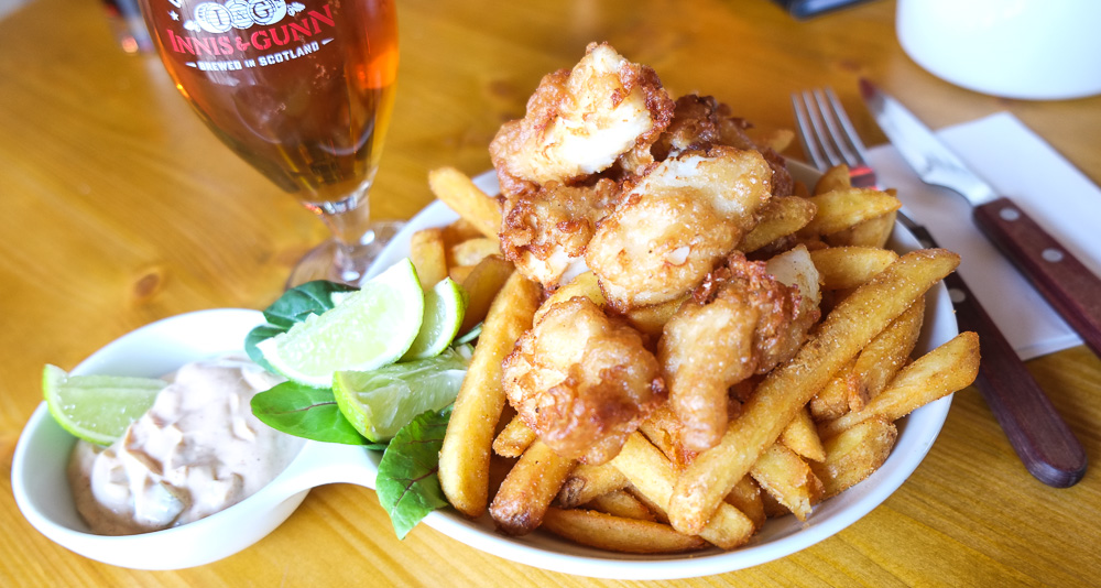 Fish N' Chips på Bierfass Øltønden